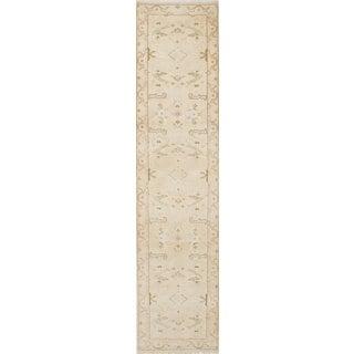 eCarpetGallery Royal Ushak Yellow Wool Hand-knotted Rug (2'7 x 11'8)