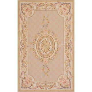 eCarpetGallery French Tapestry Pink Wool Sumak Hand-knotted Rug (5' x 8')