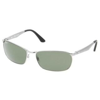 Ray-Ban Men's RB3534 004/58 Gunmetal Frame Polarized Green Classic 59 mm Lens Sunglasses