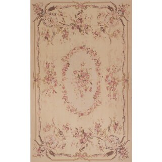 eCarpetGallery French Tapestry Wool Sumak Hand-knotted Rug (4'11 x 8'1)