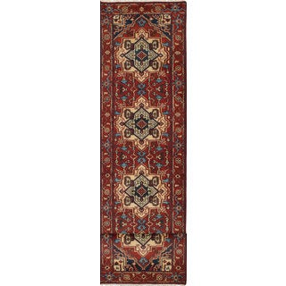 eCarpetGallery Serapi Heritage Orange Hand-knotted Wool Rug (2'7 x 12'1)