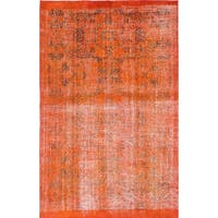 eCarpetGallery Color Transition Orange Wool Hand-knotted Rug - 5'4 x 8'4