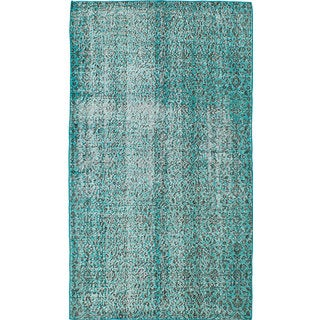 eCarpetGallery Color Transition Green Hand-knotted Wool Rug (3'9 x 6'8)