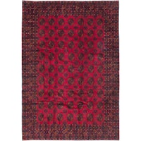 eCarpetGallery Rizbaft Red Wool Hand-knotted Rug - 6'11 x 10'