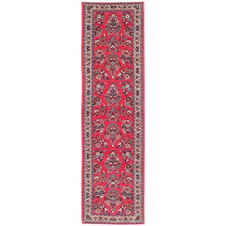 eCarpetGallery Sarough Red Wool Hand-knotted Rug (2'9 x 10')