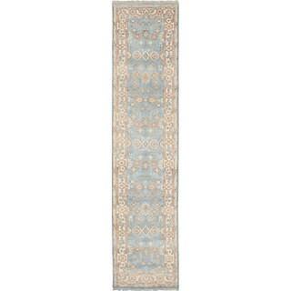 eCarpetGallery Royal Ushak Blue Hand-knotted Wool Rug (2'8 x 11'9)