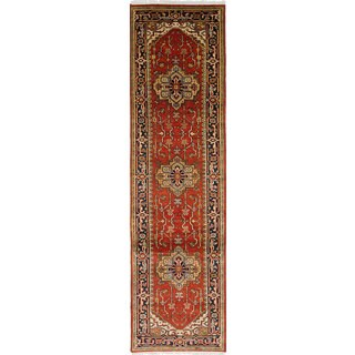 eCarpetGallery Serapi Heritage Brown Wool/Cotton Hand-knotted Rug (2'8 x 10'3)