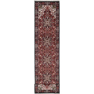 eCarpetGallery Hand-knotted Royal Heriz Red Wool Rug (2'6 x 15'9)