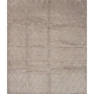 eCarpetGallery Hand-knotted Mystique Ivory Wool Rug (9'4 x 10'10)