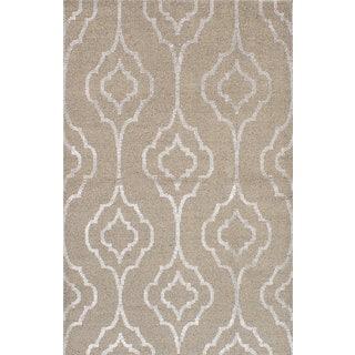 eCarpetGallery Hand-knotted La Seda Ivory Wool/Art Silk Rug (5'2 x 7'11)