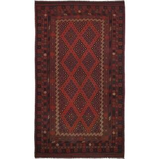 eCarpetGallery Qashqai Red Wool Flatweave Kilim Rug - 9'4 x 16'10