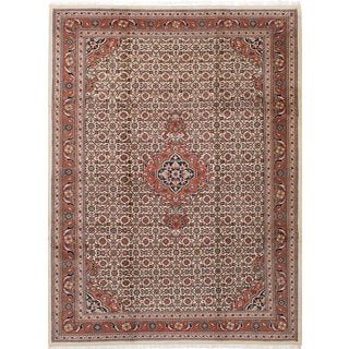 eCarpetGallery Bijar Brown/Ivory Wool Hand-knotted Rug - 8'3 x 11'3