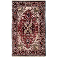 eCarpetGallery Royal Heriz Red Hand-knotted Wool Rug (4'10 x 7'11)