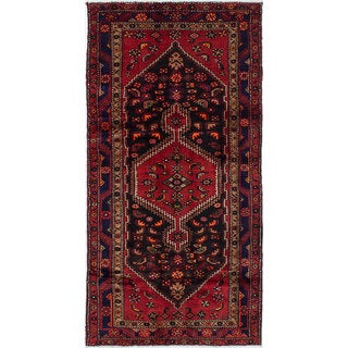 eCarpetGallery Touserkan Black/Red Wool/Cotton Hand-knotted Rug (4'5 x 8'7)