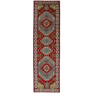ecarpetgallery Hand-Knotted Royal Kazak Red Wool Rug (2'8 x 9'7)