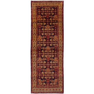 eCarpetGallery Hosseinabad Black/Red Wool Hand-knotted Rug (3'5 x 10') (Option: Black)