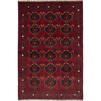 eCarpetGallery Finest Khal Mohammadi Red Wool Hand-knotted Rug (4'1 x 6'3)