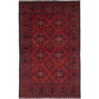 eCarpetGallery Finest Khal Mohammadi Brown Hand-knotted Wool Rug - 3'11 x 6'3