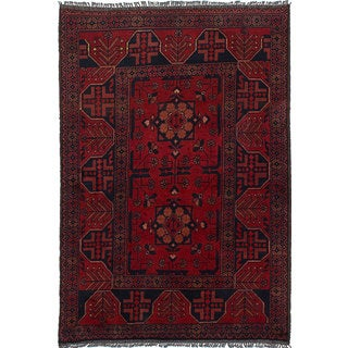 ecarpetgallery Hand-Knotted Finest Khal Mohammadi Red Wool Rug (3'3 x 4'9)