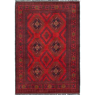 ecarpetgallery Hand-Knotted Finest Khal Mohammadi Red Wool Rug (3'3 x 4'7)|https://ak1.ostkcdn.com/images/products/16741144/P23052932.jpg?impolicy=medium