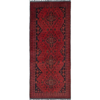 ecarpetgallery Hand-Knotted Finest Khal Mohammadi Red Wool Rug (2'5 x 6'2)
