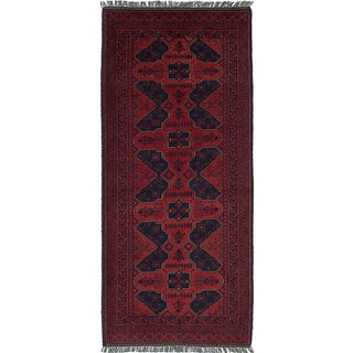 ecarpetgallery Hand-Knotted Finest Khal Mohammadi Red  Wool Rug (2'8 x 6'3)