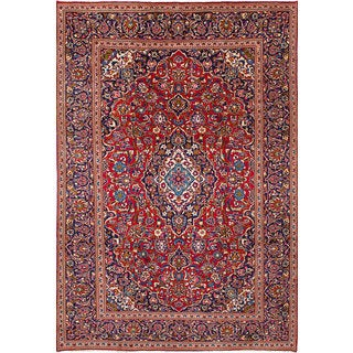 eCarpetGallery Kashan Red Hand-knotted Wool Rug (7'8 x 11'6)
