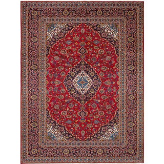 eCarpetGallery Kashan Red Wool Hand-knotted Area Rug (8'2 x 11'5)