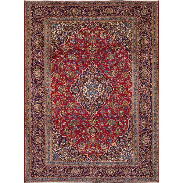 Shop Ecarpetgallery Hand Knotted Persian Kashan Red Wool: Shop ECarpetGallery Hand-knotted Kashan Red Wool Rug (8'4