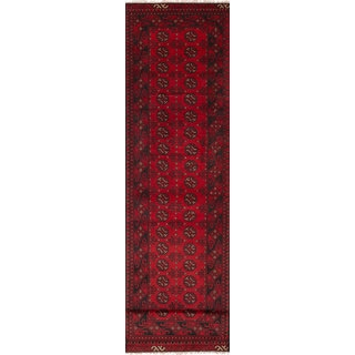 eCarpetGallery Khal Mohammadi Red Wool Hand-knotted Rug (2'8 x 12'2)
