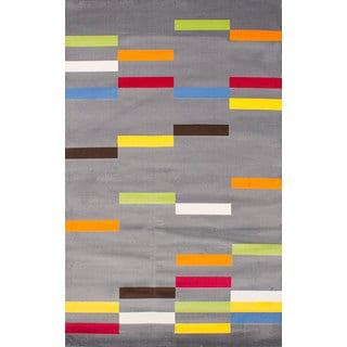 ecarpetgallery Handmade Chroma Grey Polypropylene Rug (5'5 x 8'9)