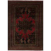 eCarpetGallery Royal Baluch Blue/Red Wool Hand-knotted Rug (4'2 x 6'4)