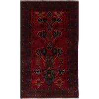 eCarpetGallery Rizbaft Red Wool Hand-knotted Rug - 3'10 x 6'8