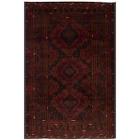 eCarpetGallery Hand-knotted Rizbaft Red Wool Rug - 4'0 x 6'3