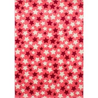 ecarpetgallery Handmade Chroma Pink Polypropylene Rug (5'5 x 7'8)