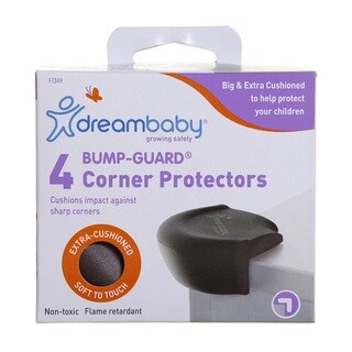 Dreambaby Bump-Guard Brown Corner Protectors (Pack of 4)