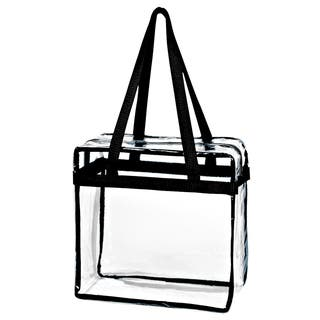 Crystal Clear Transparent PVC Plastic Zippered Tote Bag|https://ak1.ostkcdn.com/images/products/16741273/P23053044.jpg?impolicy=medium