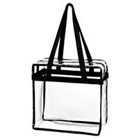 Crystal Clear Transparent PVC Plastic Zippered Tote Bag