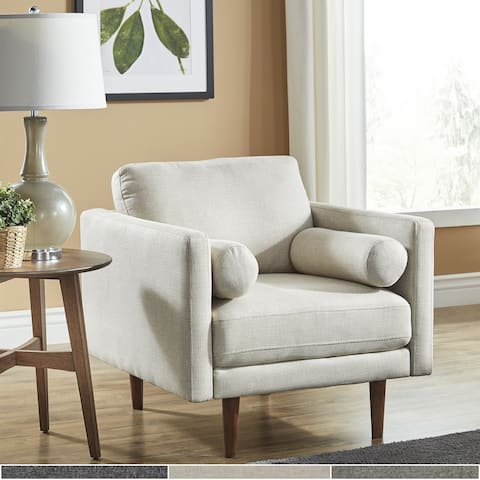 Oana Mid-Century Tapered Leg Chair with Pillows by iNSPIRE Q Modern