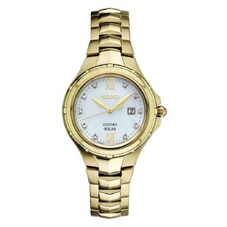 Seiko SUT310 Ladies Coutura Solar Powered Stainless Steel and Diamond Watch