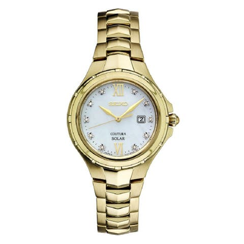 Seiko Ladies Coutura Solar Powered Stainless Steel and Diamond Watch