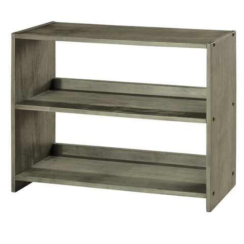 Donco Kids Louver Small Bookcase in Antique Grey Finish