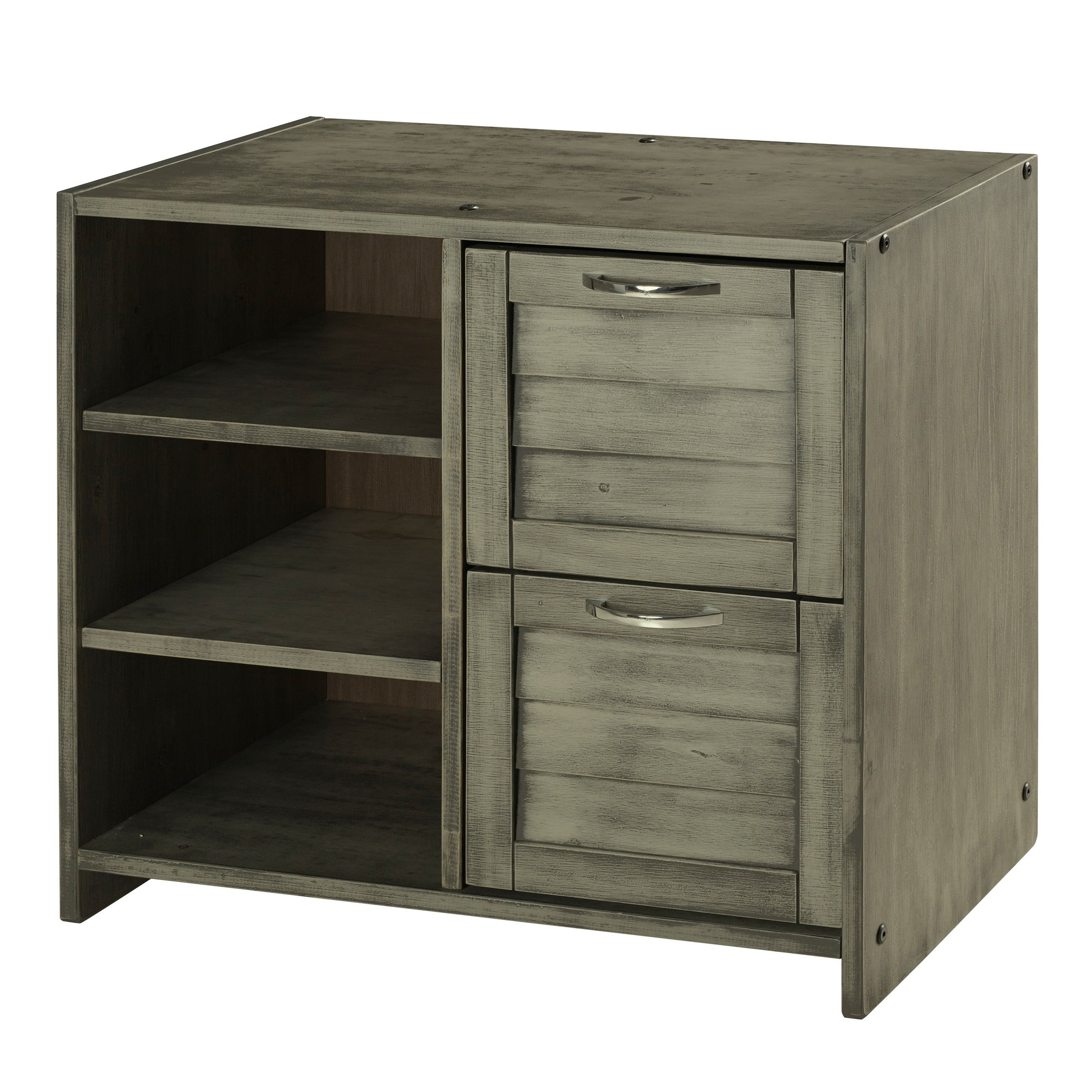 Astonishing Shop Donco Kids Louver 2 Drawer Chest With Shelves In Download Free Architecture Designs Grimeyleaguecom