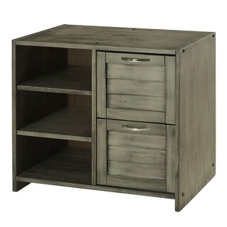 Donco Kids Louver 2 Drawer Chest with Shelves in Antique Grey Finish