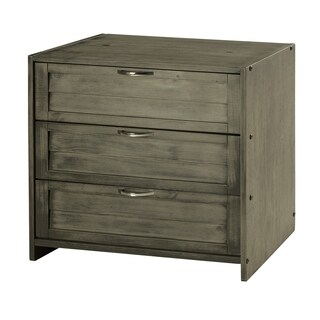Donco Kids Louver 3 Drawer Chest in Antique Grey Finish