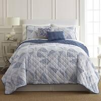 Amrapur Overseas Dillon 5-Piece Printed Reversible Quilt Set