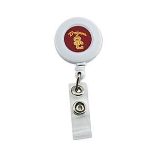 USC Trojans Retractable Badge Reel Id Ticket Clip NCAA