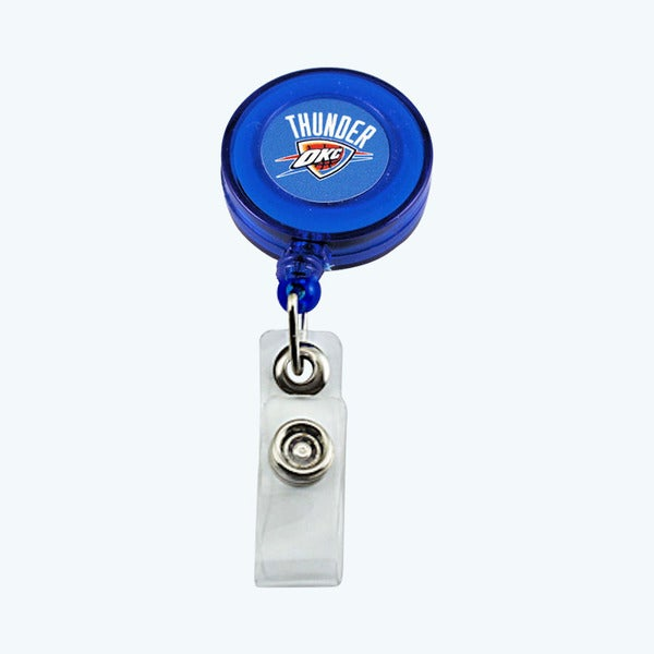 Oklahoma City Thunder Retractable Badge Reel Id Ticket Clip NBA