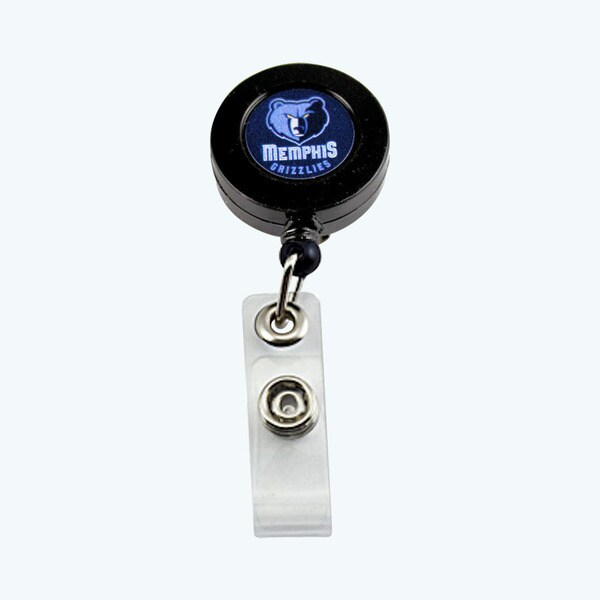 Memphis Grizzlies Retractable Badge Reel Id Ticket Clip NBA