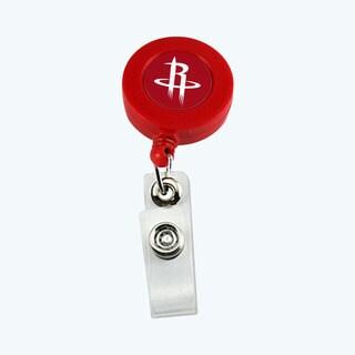 Houston Rockets Retractable Badge Reel Id Ticket Clip NBA